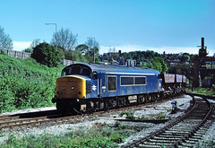 At the time other evenings were spent roaming around looking for opportunities in the Blackcountry....9T41 45013 Kingswinford Jnc-Bescot passes the site of the former Dudley FLT. (the.chair) Tags: 9t41 45013 kingswinfird jncbescot passing site former dudley flt