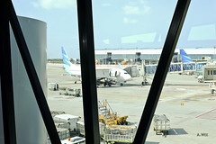 Tarmac view from the bridge (A. Wee) Tags: jakarta  indonesia  airport  cgk soekarnohatta terminal3 garudaindonesia
