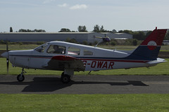 11/09/16 - Piper PA-28-161 (Cherokee Warrior II) - G-OWAR (gbadger1) Tags: egbw wellesbourne mountford airfield matters september 2016 sunday 11 eleven eleventh piper pa 28 161 cherokee warrior ii gowar