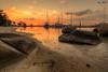 Nongsa Beach Resort sunset (Ken Goh thanks for 2 Million views) Tags: ngsa resort beach boats sunset golden sun blue sky reflection water moving clouds smooth silhouette pentax k1 sigma 1020