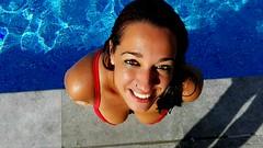 siren (il cappellaio matto !) Tags: girl woman love sun canon eos 450d spain madrid color summer swimingpool