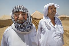 Hardship in the Desert_208 (EU Humanitarian Aid and Civil Protection) Tags: iraq fallujah anbar water nrc norwegianrefugeecouncil elderly tents desert