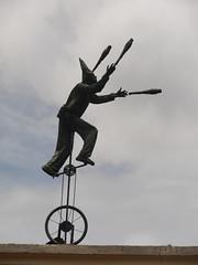 P2220140 (Gareth's Pix) Tags: bogota colombia lacandelaria unicycle juggler juggling statue