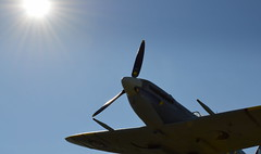 Spitfire on the up (Tony Worrall) Tags: england northern uk update place location north visit area county attraction open stream tour country welovethenorth northwest spitfire plane ww2 war fighter stannes prop model sun sky fly flying soar flight wartime