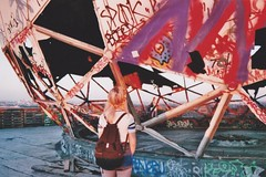 (felixmm.) Tags: felix machleid film minolta analog analogue minoltax700 minolta700 35mm vintage berlin architecture beton sunset hip vice vicemag hipster summer nostalgia explore flickrexplore teufelsberg radarstation