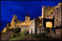 Carcassonne (_Asphaltmann_) Tags: carcassonne france frankreich languedocroussillon pentax ks2 castle burg cit blaue stunde blue hour