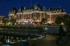 Fairmont Empress, Victoria, British Columbia (davidcmc58) Tags: fairmont hotel britishcolumbia victoria canada building night