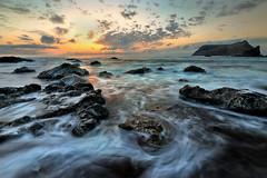Frades Sunrise (NMiguel2011) Tags: miguelnbregaphotography miguelnbrega portosanto madeiraisland seascape sea sunrising rocks color canon6d canon1635f4isl hitech triopo tripod