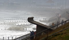 Storm Spray. (artanglerPD) Tags: aberdeen beach storm spray people sea mist boulevard waves
