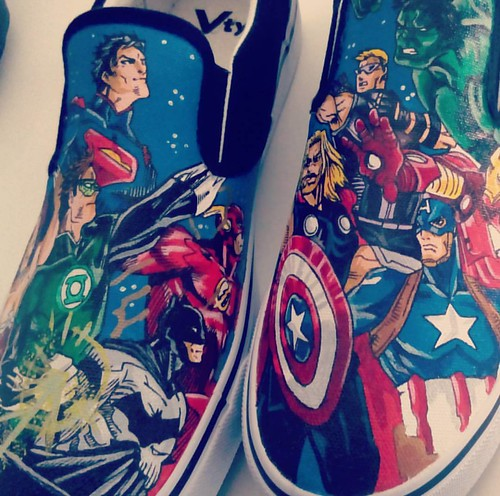 Avengers Vs Justice League Decorozapatillas Etsy Com