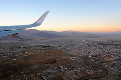 Leaving Calama airport at sunset / Chile (anji) Tags: chile southamerica americasur latinamerica northernchile sanpedrodeatacama atacamadesert