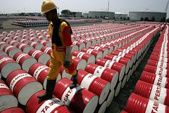 Oil jumps to session highs as crude shares drop 1.9M barrels (majjed2008) Tags: 19m barrels crude drop highs jumps session stocks