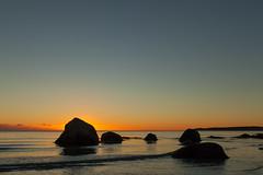 Rocks at dusk (Jakob Arnholtz) Tags: arnholtz rock dusk beach nature natur odsherred ordrupns sunset solnedgang rd bl blue red strand