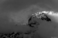 Ushba () Tags: bw blackandwhite   monochrome  ushba georgia svaneti mestia saqartvelo caucasus kavkaz    clouds  nature       alpinism mountains mountain mountaineering mount mountaintop