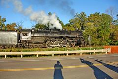 Selfie With NKP 767 (craigsanders429) Tags: nkp767 nickelplate767 nickelplateroad767 steamlocomotives steamtrains steamtrain steamonthecvsr cuyahogavalleyscenicrailroad bostonmill