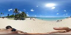 Ala Moana Beach - a 360 degree Equirectangular VR (Kanalu Chock) Tags: alamoanabeachpark equirectangular honolulu oahu hawaii diamondhead