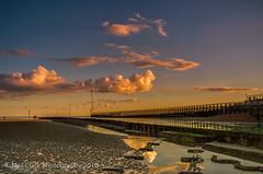 Littlehampton Beach (Neil Clark) Tags: clouds englishchannel greatbritain littlehamptonbeach ripples riverarun sand settingsun westsussex