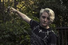 Kieran (lordgogurt) Tags: person people face portrait figure being body life hair blond bleaches arm yard home backyard fence trees