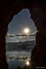Through the eye of a needle (Regina photography) Tags: cave prespes lake