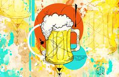 Coleo Urban Beer - Wit (golodesign) Tags: cerveja beer chopp desenho draw drawing ilustrao ilustration aquarela watercolor acuarela art arte happyhour ambiente happy bar caneca