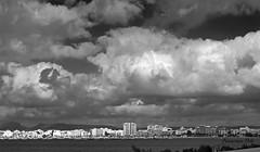 Nubes en San Javier (Fotgrafo-robby25) Tags: byn edificiosdeviviendas fujifilmxt1 marmenor nubes sanjaviermurcia