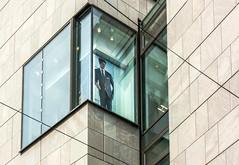 Halle - Advertising (thewhitewolf72) Tags: i it halle galeria kaufhof werbung anzug krawatte model mann fenster wand kaufhaus