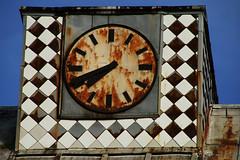 running out of time ... (lunaryuna) Tags: berlin lichtenberg architecture oldschoolbuilding rooftop clock runningoutoftime timegotrusty rustncrust decay beauty urbandecay walkinthecity urbanconstructs lunaryuna