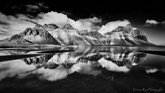 Vestrahorn Islande - Explored (EtienneR68) Tags: d810 iceland islande montagne reflection reflet vestrahorn blackandwhite eau landscape mer mountain nb nature nikon paysage water