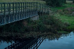 Bridge over less troubles water. (Jason Coyle) Tags: water bridge longexposurephotography longexposure nightphotography norththirdreservoir norththird stirlingshire scotland