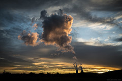 the cloud factory (jrockar) Tags: cloud factory slovakia mochovce nuclear plant power sky sunset beautiful nature cityscape landscape jrockar janrockar idiot oncearoundthesun backpacking nomad travel trip journey east europe pretty light last rays canon 5d mk mark iii 3 1740 l urban human influence ngc