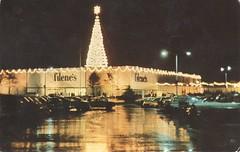 Hamblen's Gigantic Christmas Tree - Norwell, Massachusetts (The Cardboard America Archives) Tags: vintage postcard christmas tree mall shopping massachusetts