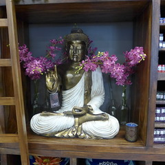 Some practising buddhists find the Western habit of using statues of Buddha as interior design accessories and garden ornaments objectionable (tanetahi) Tags: furniture loganmegacentre shopping brisbane buddha statue vast interiordesign accessory