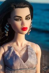Midori (astramaore) Tags: 16 doll toy astramaore redlips sea ayumi opium brunette fashionroyalty fashiondoll dollphotography dress summer integritytoys chic beauty glamour blue red skies sky