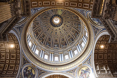 Dome, St. Peter's, Rome (meg21210) Tags: rome roma italy stpeters vatican interior church basilica michelangelo domw
