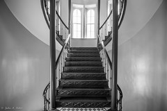 _DSC8787 (jbaker6886) Tags: austin light stedwards texas university architecture bannister blackandwhite curves lines shadow staircase windows