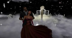 A Romantic Night With Marcus (1) (Jill Jillybean) Tags: dancing gown swaying clouds love romantic music woman girl man dance