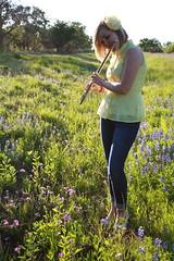 (kailasaur) Tags: flowers blue summer portrait flower nature senior girl spring pretty texas amy bluebonnet flute blond blonde bonnet seniors bonnets senior13 senior2013
