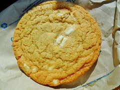 My cookie (Elysia in Wonderland) Tags: food white giant yummy big cookie chocolate large delicious biscuit snack huge chip greggs