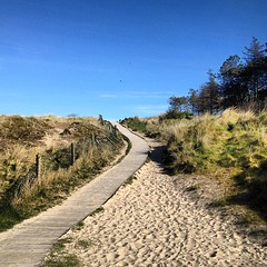 Beach Path (tezzer57) Tags: blue ireland sky beach square sand path squareformat wexford iphone curracloe iphoneography instagramapp uploaded:by=instagram foursquare:venue=4dbd4a9dfa8cee727362d5aa