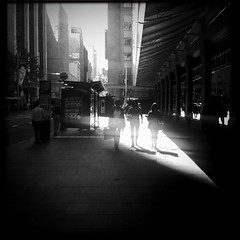 dissolving in light (Albion 'a whole lotta busy' Harrison-Naish) Tags: street light people blackandwhite monochrome square shadows sydney australia squareformat nsw newsouthwales lightandshadow queenvictoriabuilding unedited iphone explored mobilephotography iphone4 johnslens iphoneography hipstamatic blackeyssupergrainfilm streetphotogoraphy