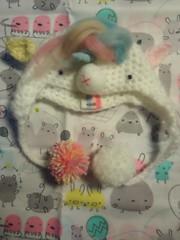 pastel unicorn hat