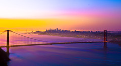 """It's always a good morning, in San Francisco"" (Nicole Miesfeld) Tags: sanfrancisco california sunrise goldengatebridge hawkhill photostacking"