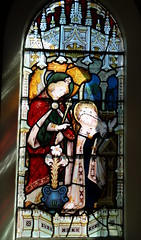 Albury, Oxfordshire (Sheepdog Rex) Tags: stainedglass annunciation albury sthelenschurch