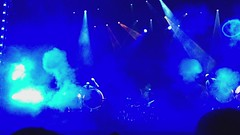 Smoke Rings - Blue Man Group - Las Vegas, NV (tossmeanote) Tags: show las vegas blue man drums video haze theater stage smoke nevada group performance nv rings carlo monte iphone lighted 2013 tossmeanote