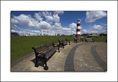 Plymouth Hoe (Nickerzzzzz :)) Tags: lighthouse bench plymouthhoe smeatonstower 1022usm canon60d nickerzzzzz nickudy