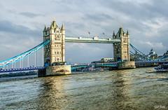 Tower Bridge (efiske) Tags: bridge london tower water clouds river europe cloudy riverthames