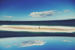 (Amanda Mabel) Tags: ocean autumn sea portrait sky beach water clouds landscape sydney australia wideangle manipulation fisheye nsw dreamy mysterybay tilba tilbatilba surrealphotography centraltilba tilbansw