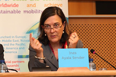 Ins Ayala Sender, Member of the TRAN Committee, European Parliament (Smart Move) Tags: green public european eu passenger safe publictransport mobility smartmove affordable iru efficient userfriendly passengertransport