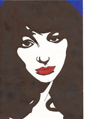 kate bush (Bill Flake) Tags: red art bush kate popart katebush sharpie artish redblack artforfun