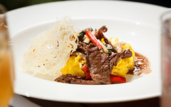 Bangkok Beef with Basil with Coconut Saffron Rice (don.reid) Tags: california ca food usa college river lunch photo cafe student photos arc run gourmet management american sacramento culinary hospitality foodie 95841